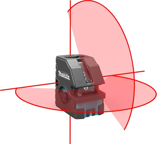 een puntlaser gebruiken in de bouw